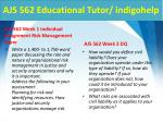 ajs 562 educational tutor indigohelp2