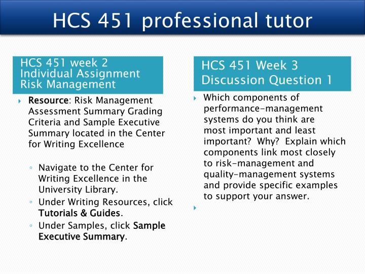 hcs451 quality management assessment summary