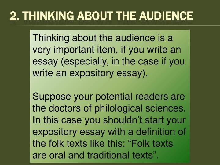 2. Thinking About The Audience