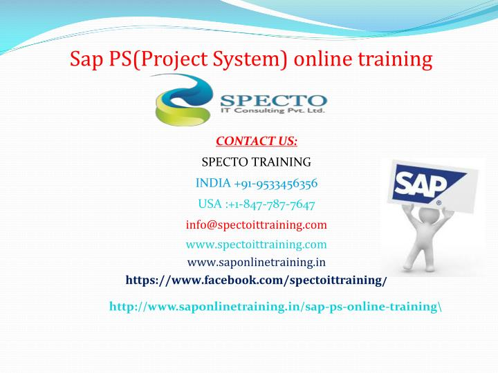 sap ps project system online training n.