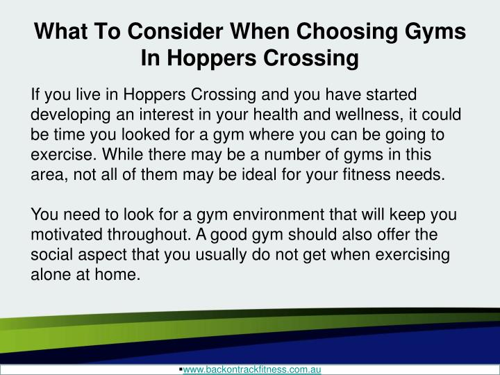 What to consider when choosing gyms in hoppers crossing1