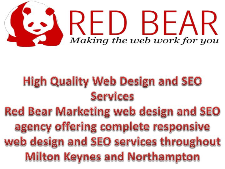 High Quality Web Design and SEO