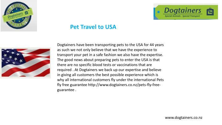 Pet Travel to USA