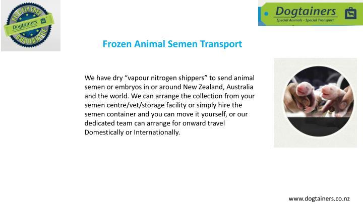 Frozen Animal Semen Transport