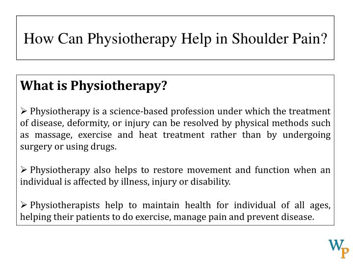 How can physiotherapy help in shoulder pain2