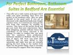for perfect bathroom bathroom suites in bedford are essential2