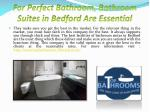 for perfect bathroom bathroom suites in bedford are essential4