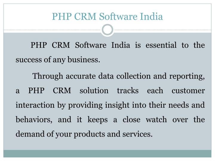 Php crm software india1