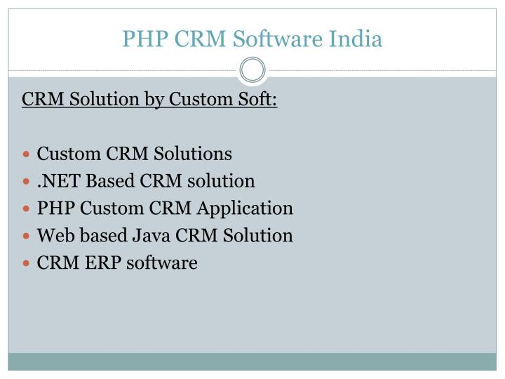 Php crm software india2