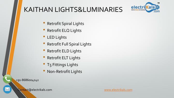 Kaithan lights luminaries