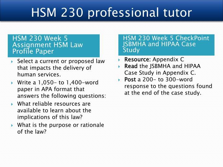 HSM 230 professional