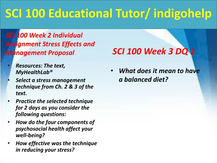 sci 100 stress effects and management proposal And stress testing the proposal also as a result of the proposal, management's stress testing may be as simple as analyzing the potential effect.