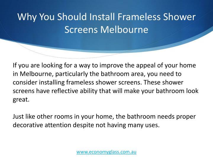 Why you should install frameless shower screens melbourne1