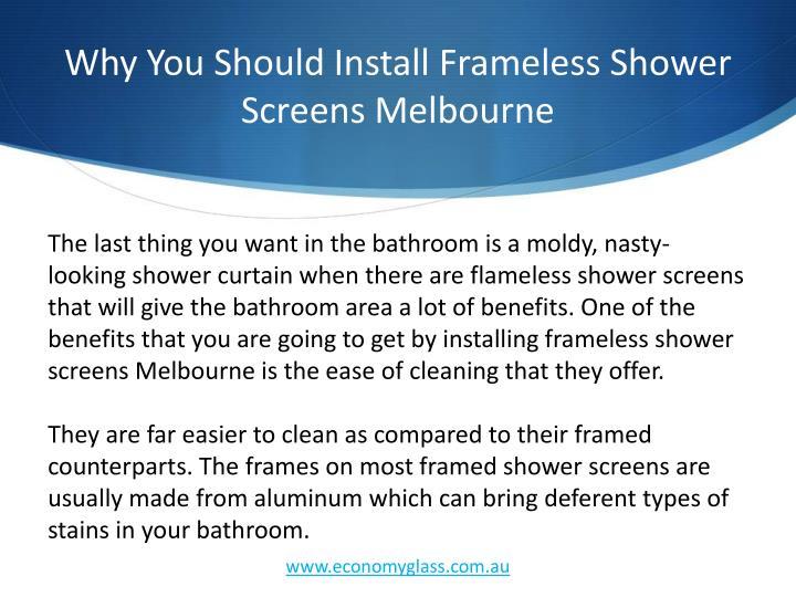 Why you should install frameless shower screens melbourne2