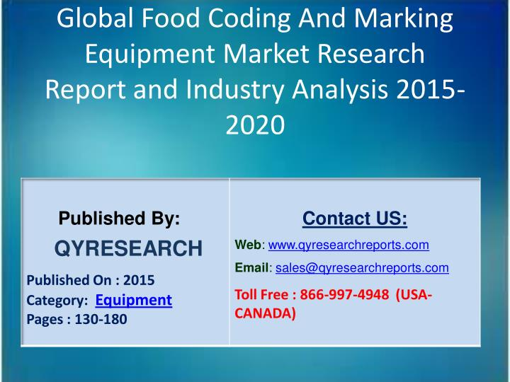 Global Food Coding And Marking