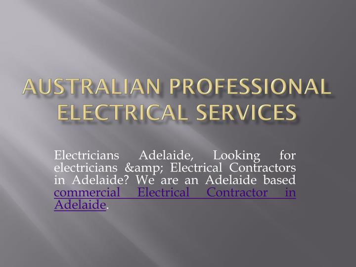 australian professional electrical services n.