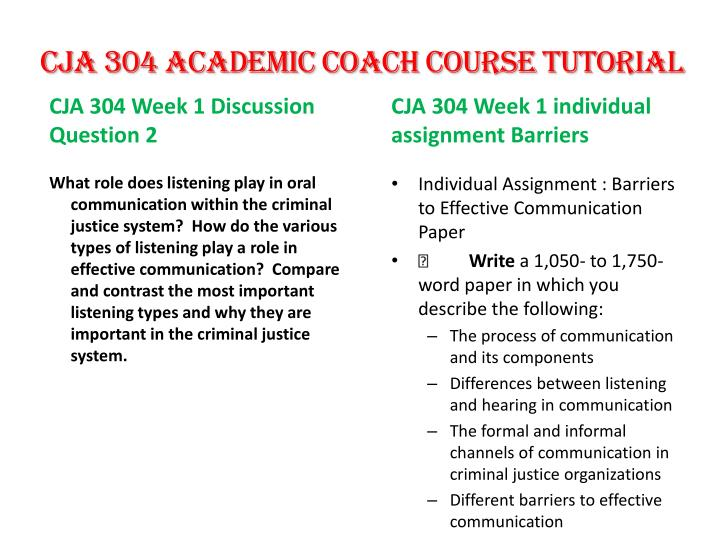 cja 304 Week 1 dq 1 dq 1 what are the key components of communication how do these key components affect the process of communication and its overall effectiveness how might you improve the use of these key components of effective communication.
