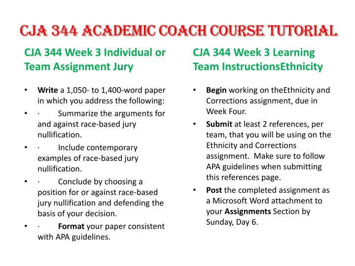 cja 344 jury nullification Find exactly what you want to learn from how-to solve papers about cja 344 week 3, taught by industry experts cja 344 week 3 jury nullification paper.