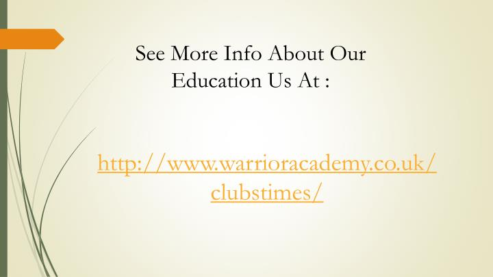 See More Info About Our Education Us At :