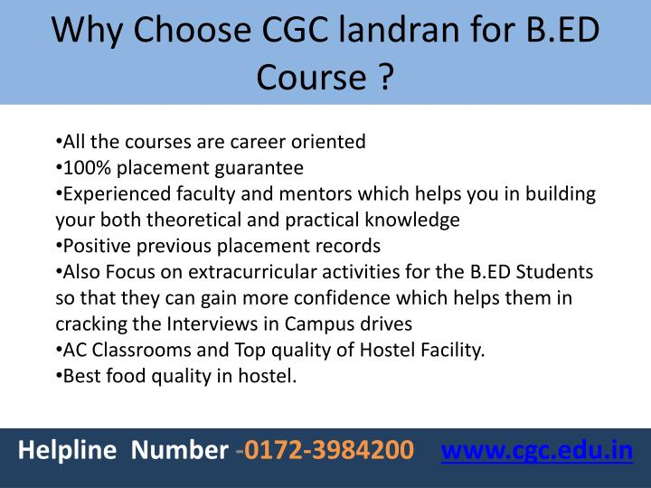 All the courses are career oriented