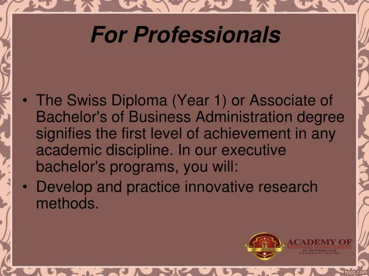 For Professionals
