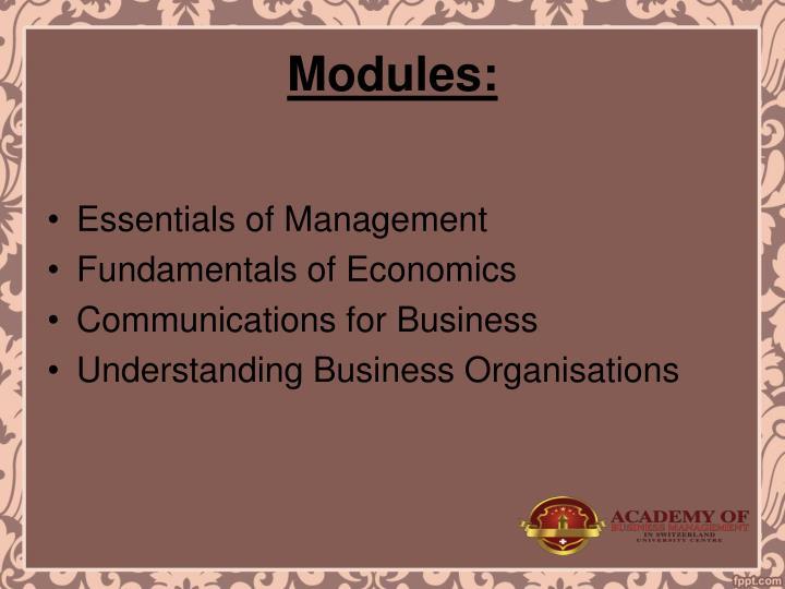 Modules: