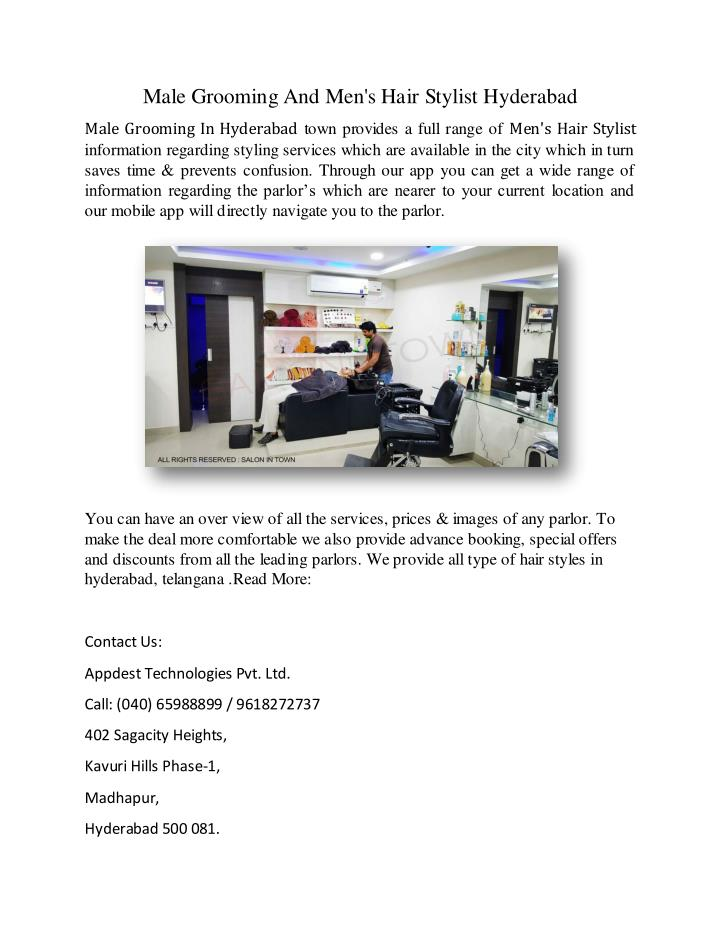 Male Grooming And Men's Hair Stylist Hyderabad