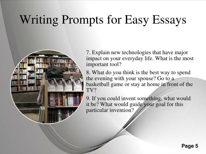 writing prompts for college For a coming student contest in which teenagers are invited to write on an issue they care about, we have gathered a list of 200 writing prompts.