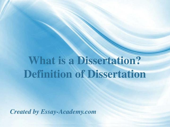what are the parts of a dissertation