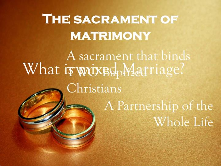 sacrament of matrimony