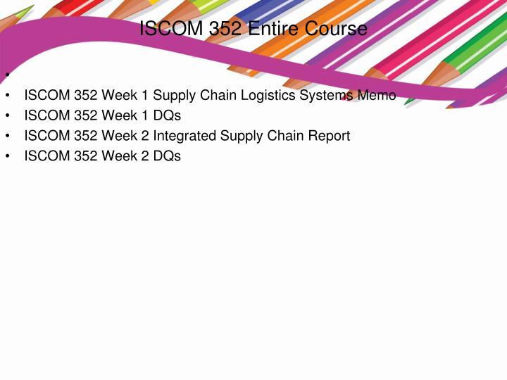 Iscom 352 entire course