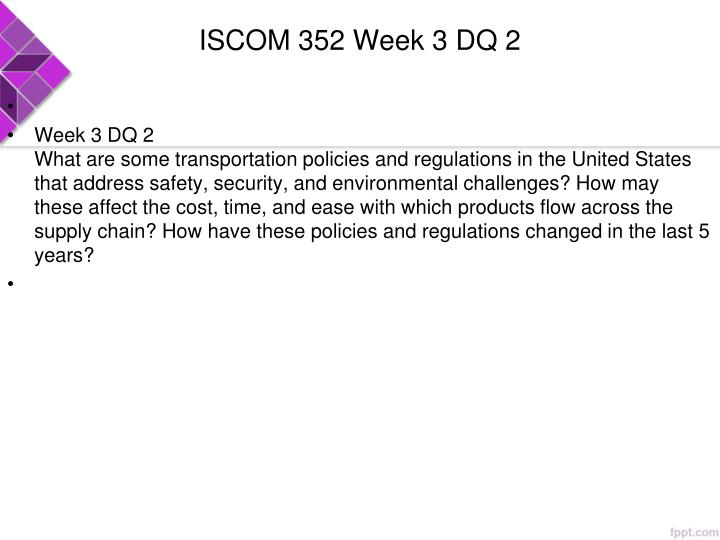 ISCOM 352 Week 3 DQ 2