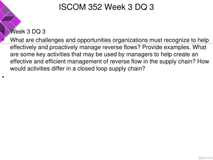 ISCOM 352 Week 3 DQ 3