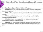 it 210 week 8 checkpoint object oriented data and processes