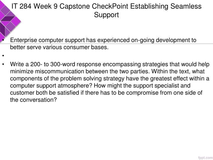 IT 284 Week 9 Capstone