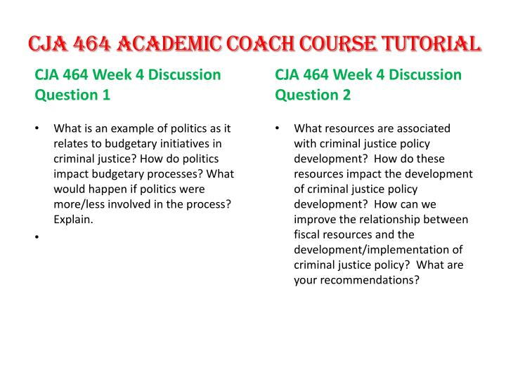CJA 464 Academic