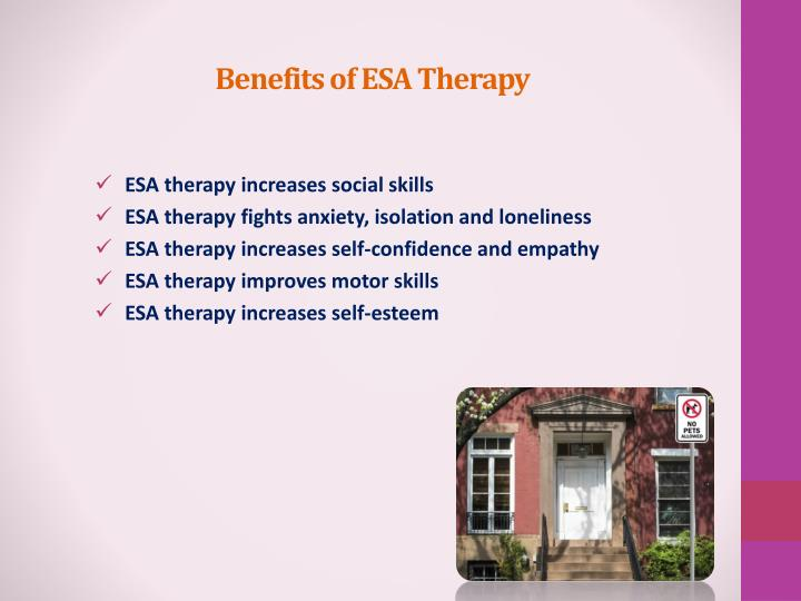 Benefits of ESA Therapy