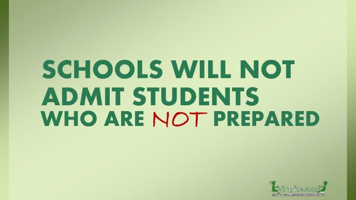 Schools will not admit students