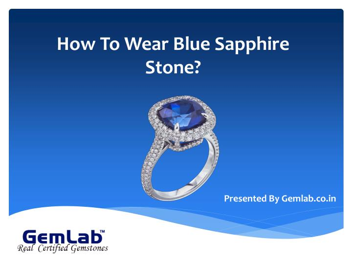 how to wear blue sapphire stone n.