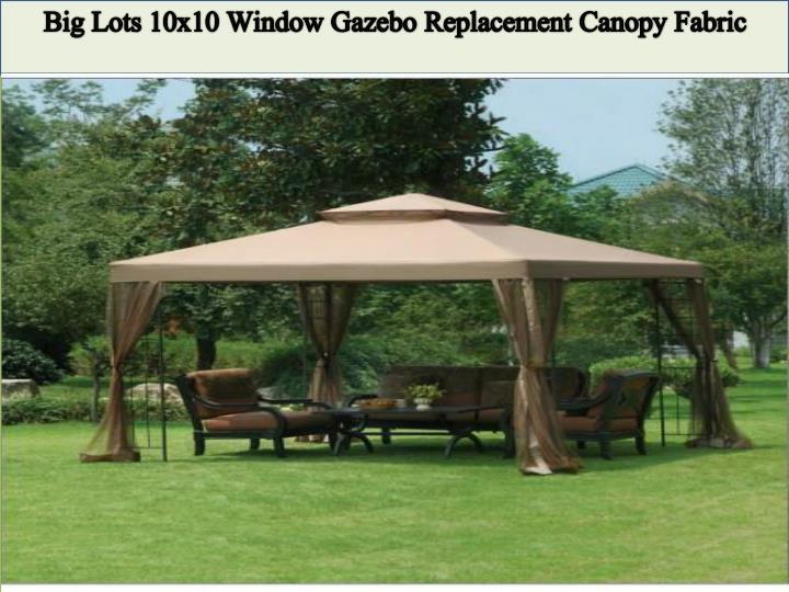 Big Lots 10x10 Window Gazebo Replacement Canopy Fabric & PPT - Enhance Your Garden Beauty with Sunjoy Gazebo Canopy ...