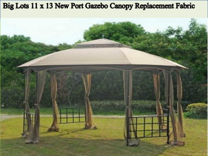Big Lots 11 x 13 New Port Gazebo Canopy Replacement Fabric & PPT - Enhance Your Garden Beauty with Sunjoy Gazebo Canopy ...