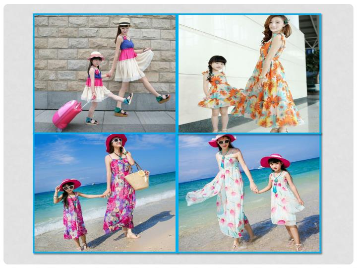 Coordinating mother daughter outfits family clothing sets india