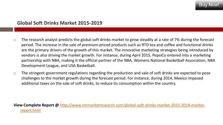 Global Soft Drinks Market 2015-2019