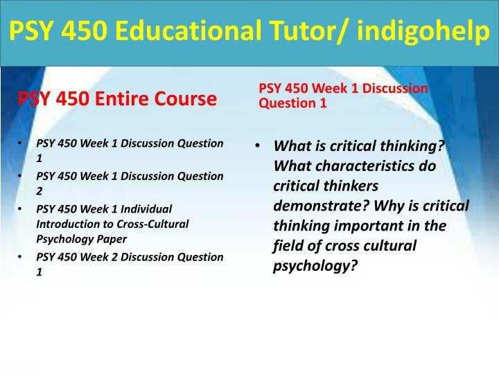Psy 450 educational tutor indigohelp1