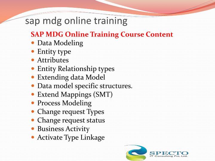 Sap mdg online training