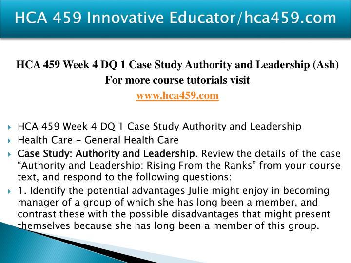 HCA 459 Innovative Educator/hca459.com