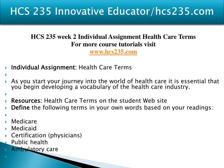 HCS 235 Innovative Educator/hcs235.com