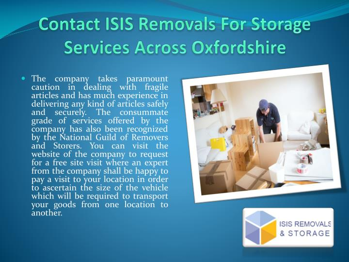 Contact ISIS Removals For Storage Services Across Oxfordshire