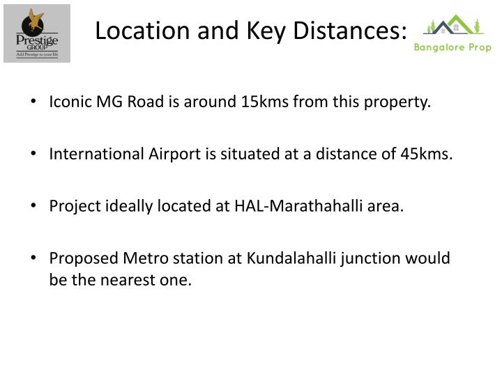 Location and Key Distances: