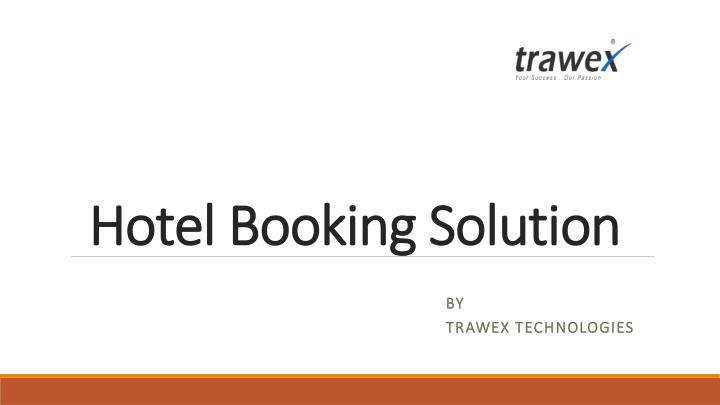 hotel booking solution n.